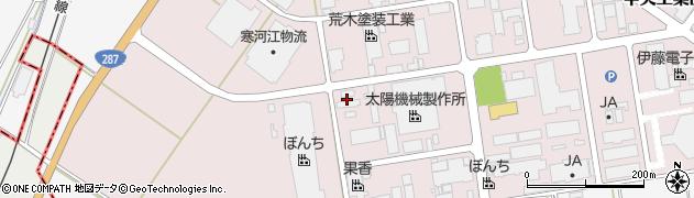 山形県寒河江市中央工業団地10周辺の地図