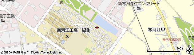 山形県寒河江市緑町200-14周辺の地図