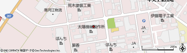 山形県寒河江市中央工業団地12周辺の地図