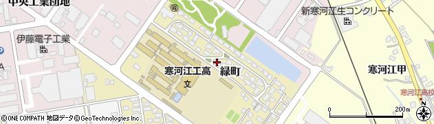 山形県寒河江市緑町200-39周辺の地図
