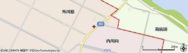 山形県寒河江市日田内川向2周辺の地図