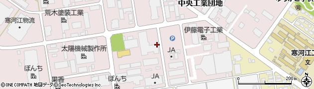 山形県寒河江市中央工業団地周辺の地図