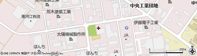 山形県寒河江市中央工業団地45周辺の地図