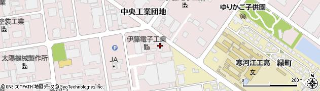 山形県寒河江市中央工業団地81周辺の地図