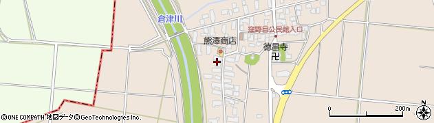 山形県天童市窪野目周辺の地図