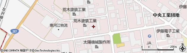山形県寒河江市中央工業団地7周辺の地図