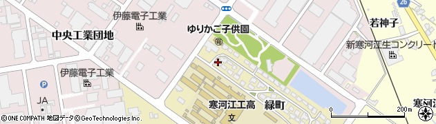 山形県寒河江市緑町200-33周辺の地図