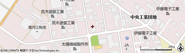 山形県寒河江市中央工業団地33周辺の地図