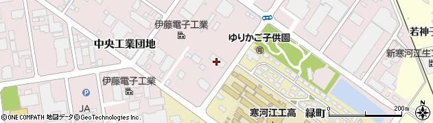 山形県寒河江市中央工業団地158周辺の地図