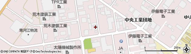 山形県寒河江市中央工業団地37周辺の地図