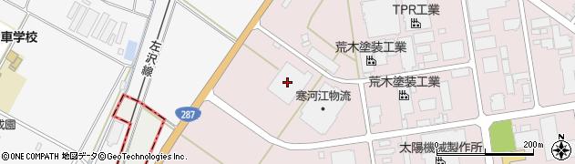山形県寒河江市中央工業団地1156周辺の地図