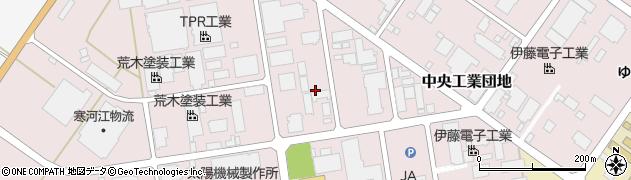 山形県寒河江市中央工業団地36周辺の地図