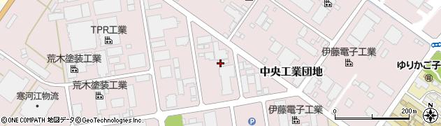 山形県寒河江市中央工業団地60周辺の地図