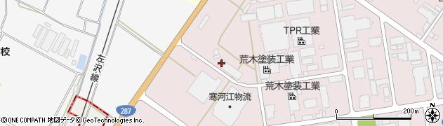 山形県寒河江市中央工業団地366周辺の地図