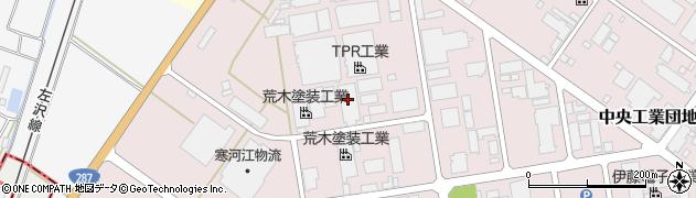 山形県寒河江市中央工業団地3周辺の地図