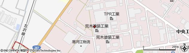 山形県寒河江市中央工業団地2周辺の地図
