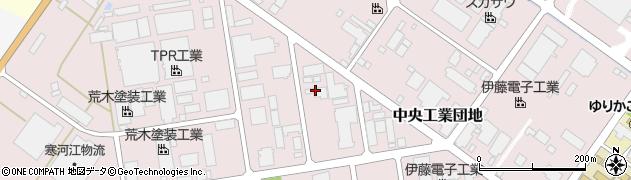 山形県寒河江市中央工業団地53周辺の地図