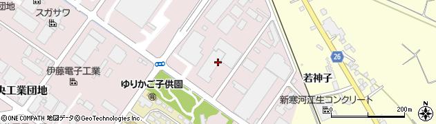 山形県寒河江市中央工業団地155周辺の地図