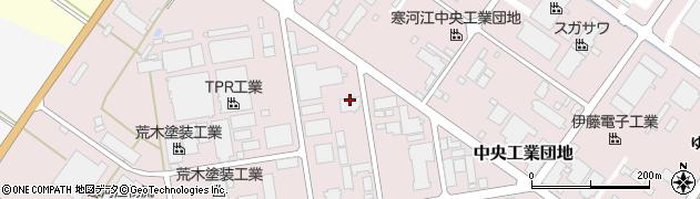 山形県寒河江市中央工業団地17周辺の地図