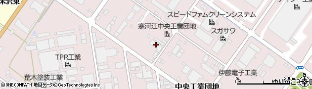 山形県寒河江市中央工業団地181周辺の地図