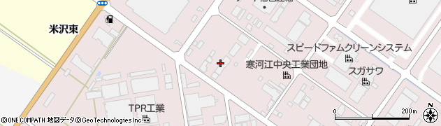 山形県寒河江市中央工業団地185周辺の地図