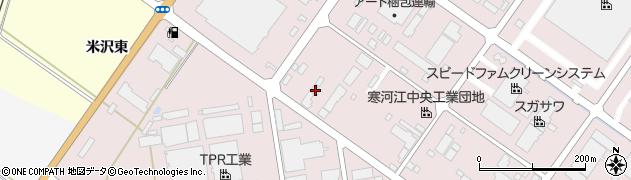 山形県寒河江市中央工業団地186周辺の地図