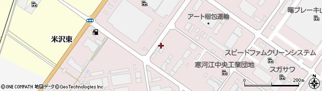 山形県寒河江市中央工業団地176周辺の地図