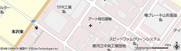山形県寒河江市中央工業団地174周辺の地図