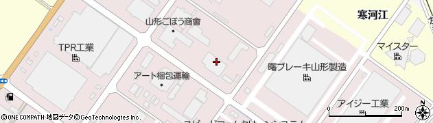 山形県寒河江市中央工業団地166周辺の地図