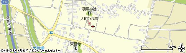 山形県天童市大町周辺の地図