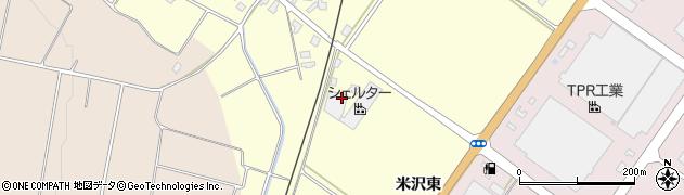 山形県寒河江市米沢東周辺の地図