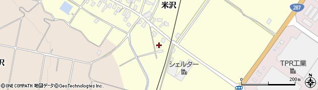 山形県寒河江市米沢220周辺の地図