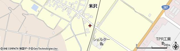 山形県寒河江市米沢129周辺の地図