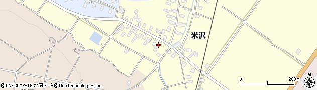 山形県寒河江市米沢35周辺の地図