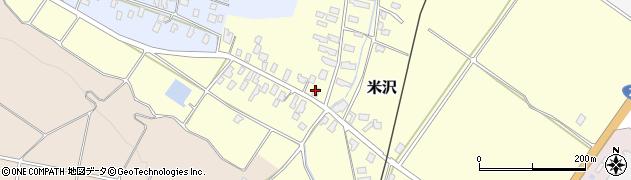 山形県寒河江市米沢43周辺の地図