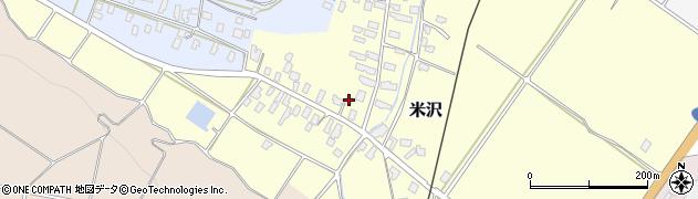 山形県寒河江市米沢34周辺の地図