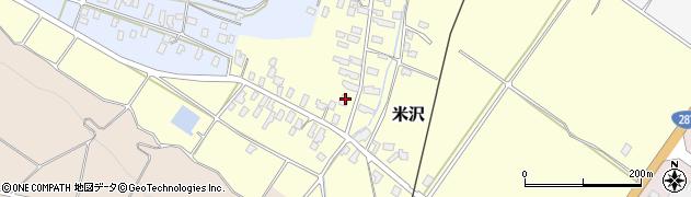 山形県寒河江市米沢44周辺の地図