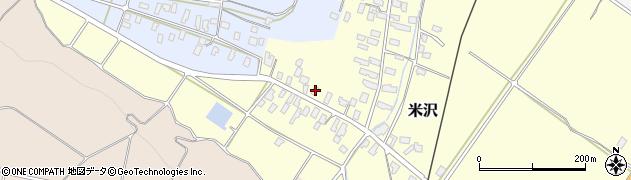 山形県寒河江市米沢21周辺の地図