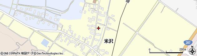 山形県寒河江市米沢57周辺の地図