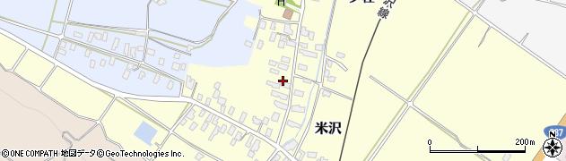 山形県寒河江市米沢52周辺の地図