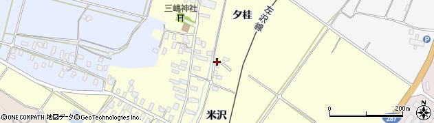 山形県寒河江市米沢夕桂94周辺の地図