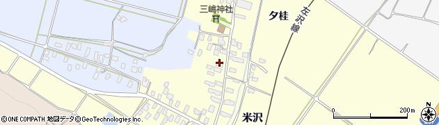 山形県寒河江市米沢61周辺の地図
