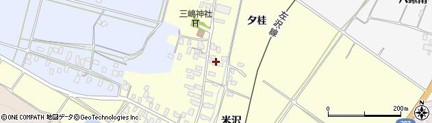 山形県寒河江市米沢66周辺の地図