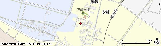 山形県寒河江市米沢62周辺の地図