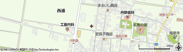 山形県西村山郡河北町溝延西浦34周辺の地図