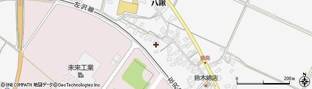 山形県寒河江市八鍬鹿島周辺の地図