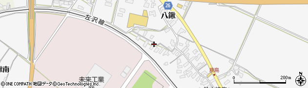 山形県寒河江市八鍬985周辺の地図