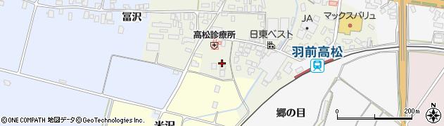 山形県寒河江市高松122周辺の地図