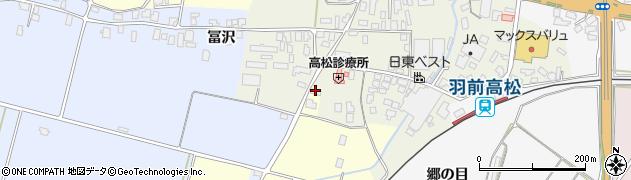 山形県寒河江市高松116周辺の地図