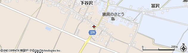 山形県寒河江市谷沢581周辺の地図